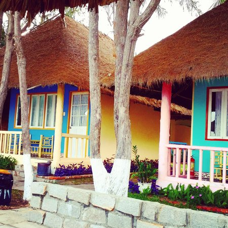 Green Coconut Resort: beachfront room