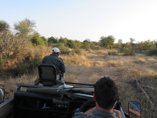 Toro Yaka Bush Lodge : Open-air Land Rover with CJ and Goodman