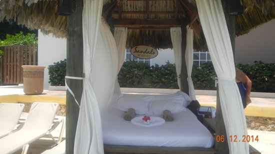 Sandals Royal Caribbean Resort and Private Island: our private beach cabana