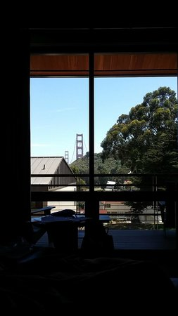 Cavallo Point: View of the hills and bridge from room 2506