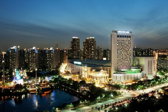 Lotte Hotel World: Exterior View (Night)