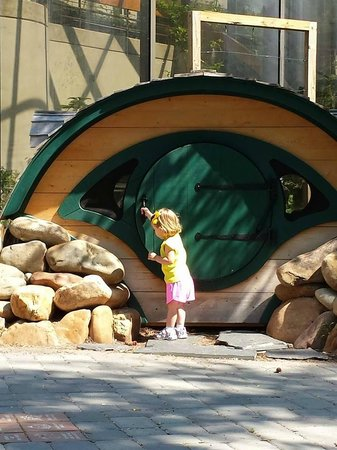 Virginia Living Museum: Hobbit house in the children's playground and garden area