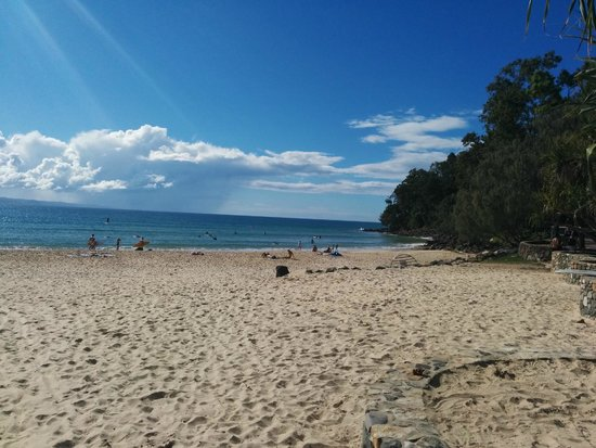 Noosa Main Beach: Main Beach looking in the direction of the National Park