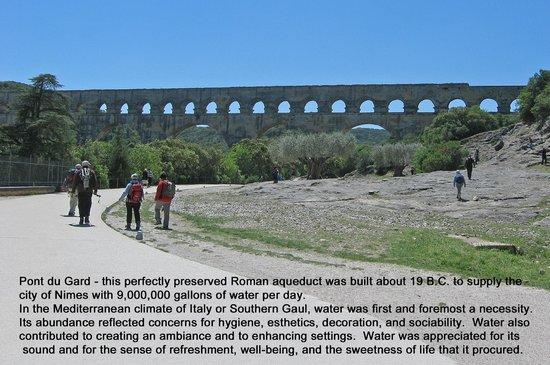 First view of Pont du Gard