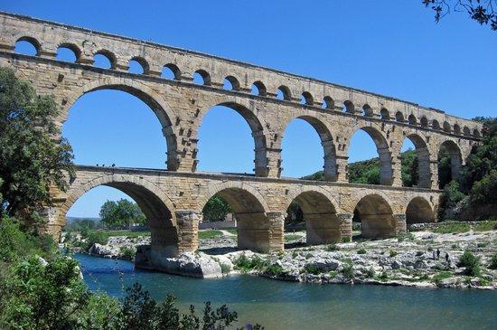 Pont du Gard from the Left Bank