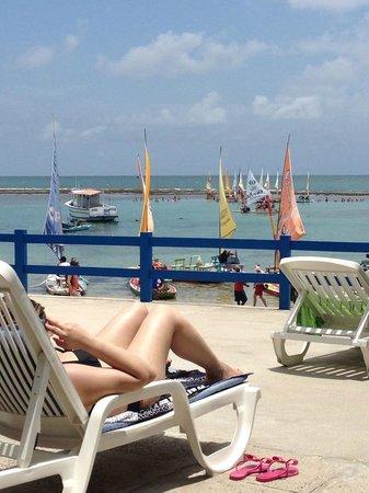 Pousada Beira Mar : Vista do deck externo da pousada