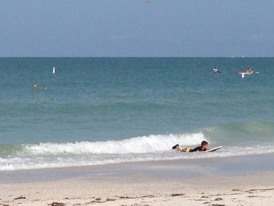 Seahorse Cottages: Boogie boarding!!