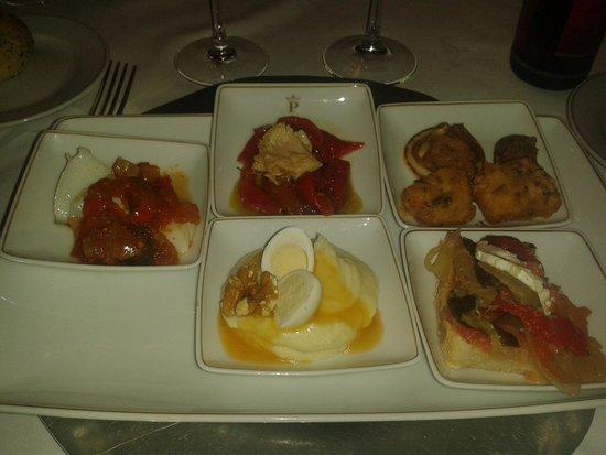 Restaurante Convento de San Pablo: entrantes variados
