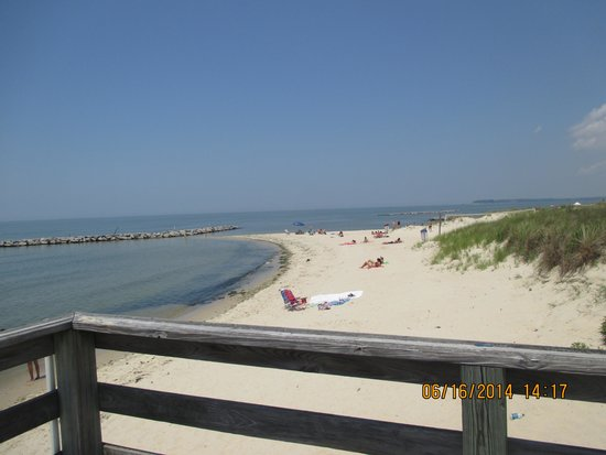 Cape Charles Beach: View down the beach
