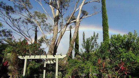 Hale Ho'okipa Inn Makawao: rainbow view from the front porch