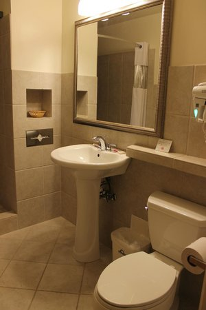 Days Inn Chicago: Limited space but clean, modern bath