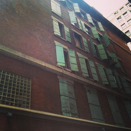 Gotham Walking Tours of New York City: Shutters on Jersey street.