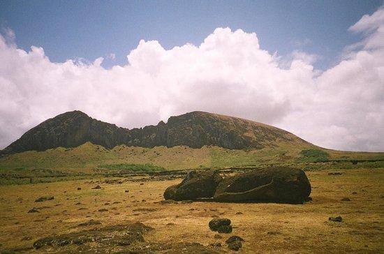 Ahu Tongariki: Solitary Moai swept in by tsunami wave
