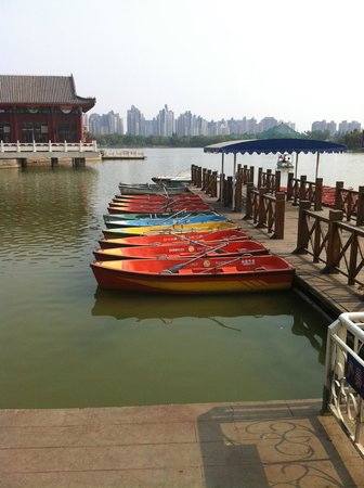 Shuishang Park: Some of the boats you can take out on the water