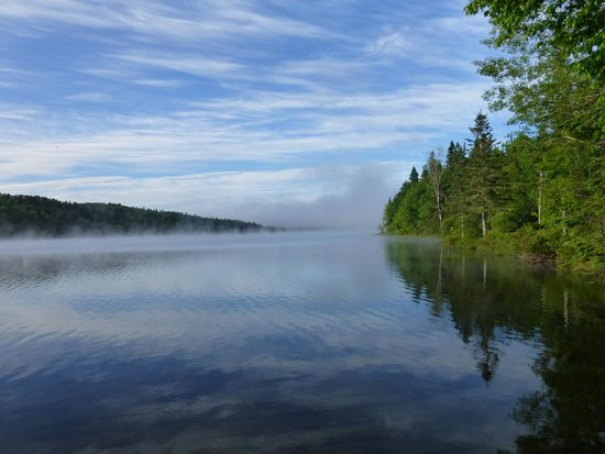 Lake Francis State Park: Early morning mist on Lake Francis