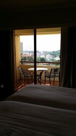 Hotel Equatorial Melaka : View from room, Melaka town..
