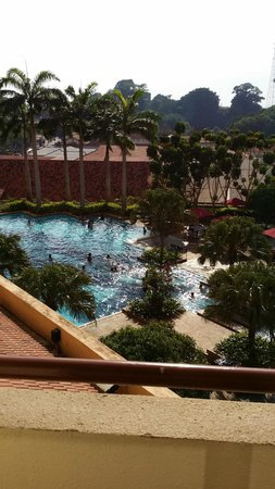 Hotel Equatorial Melaka: View from room, the swimming pool..