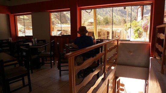 View from Puka Rumi restaurant, Ollantaytambo