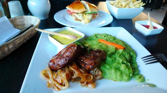 Alpaca meat at Puka Rumi restaurant, Ollantaytambo
