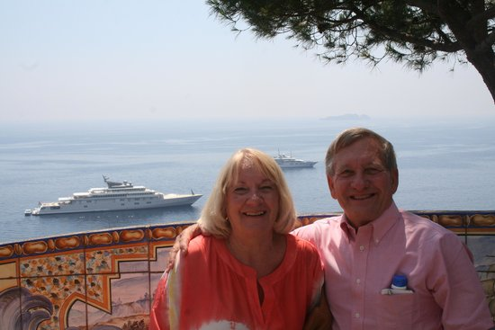 Positano Car Service Private Day Tours: From the balcony at Hotel San Pietro
