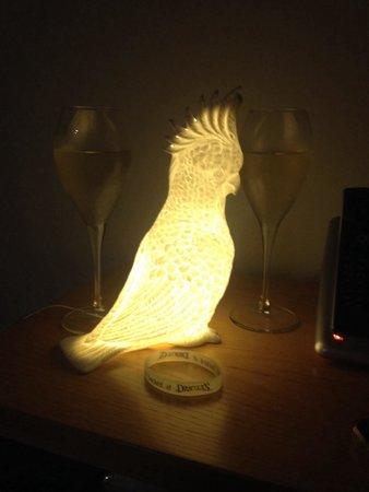 QT Gold Coast: Cockatoo lamp