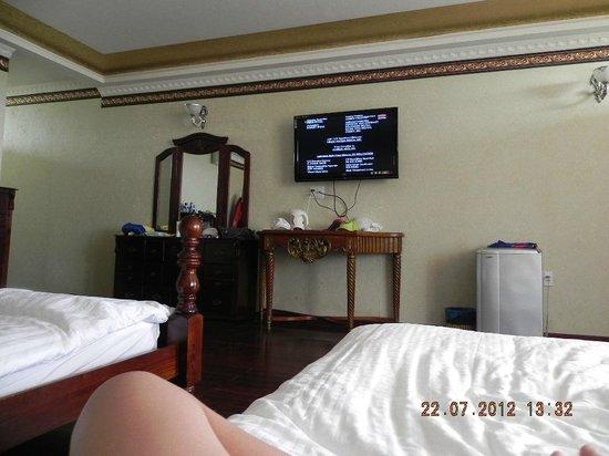 Fengshui Resort & Spa: номер с двумя двуспальными кроватями