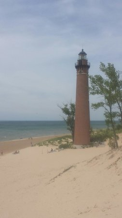 Little Sable Point Lighthouse: View from the sand dune...June 2014