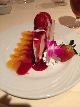 Fogo de Chao Brazilian Steakhouse: cheesecake w/strawberries
