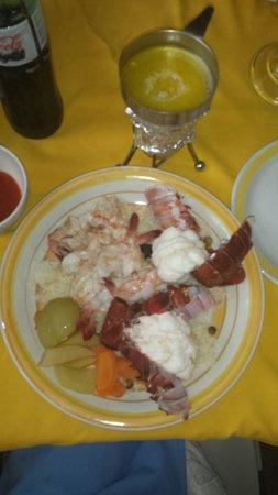 Maro's Shrimp House : Shrimp & lobster plate