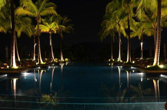 Andara Resort and Villas: main pool at night