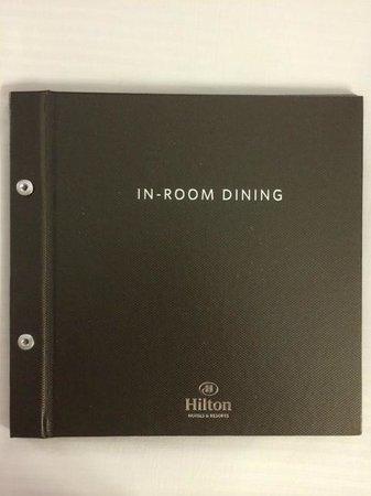 Hilton San Jose : Room Service Menu Front Cover