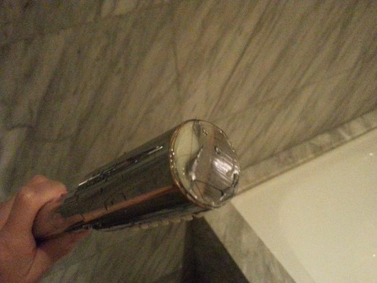 Carlton Hotel Singapore: Peel-off move around shower head