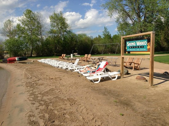 Merrifield, MN: The beach and swimming area