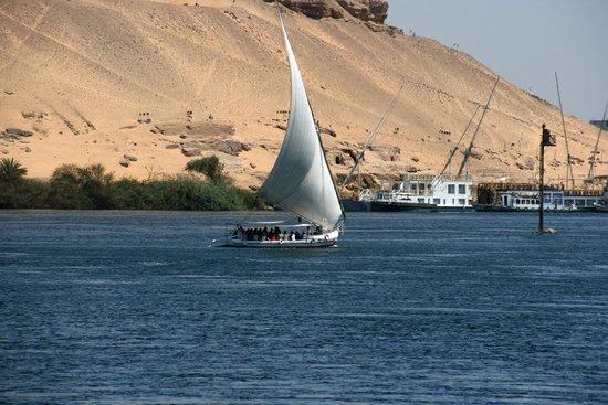 Movenpick Resort Aswan : View across the Nile