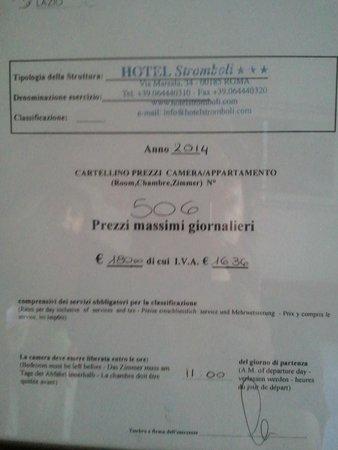 Hotel Stromboli : prices