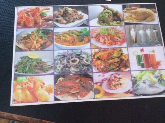Sam's Anna Seafood Restaurant: menu
