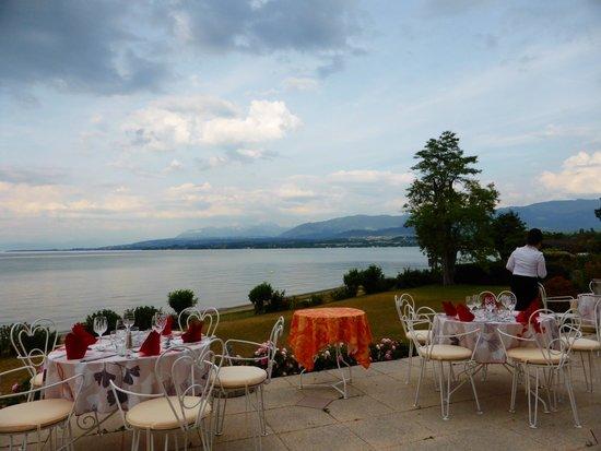Hôtel-Restaurant de la Plage: la terrasse