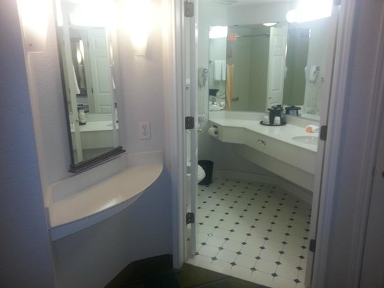 Bathroom And Vanity Area Picture Of La Quinta Inn Suites Fort Worth North Fort Worth