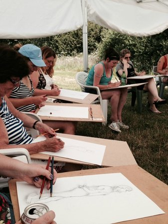 Dorset Country Holidays Glamping: Hen Party - Life Drawing