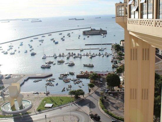 Sao Marcelo (do Mar) fort : Вид на форт из Верхнего города