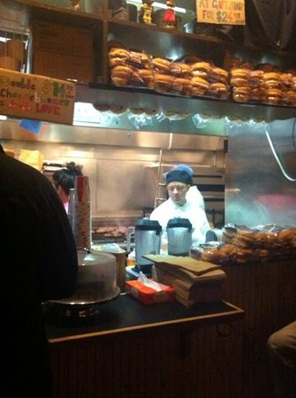 Burger Joint at Le Parker Meridien Hotel: c'est ici que tout se prépare...