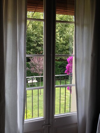 l'Hort de Sant Cebria: View of the garden from the room