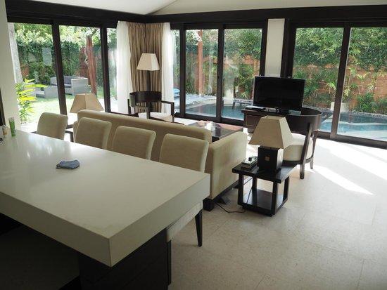 Fusion Maia Da Nang: More of the kitchen/living area in spa villa.