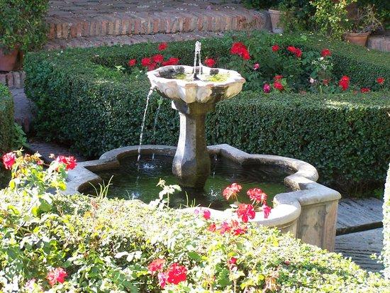 Alcazaba (fort) : Fontana in cui convogliano i rii di acqua