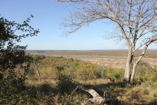 Olifants Rest Camp: View on Olifants River from our rondavel