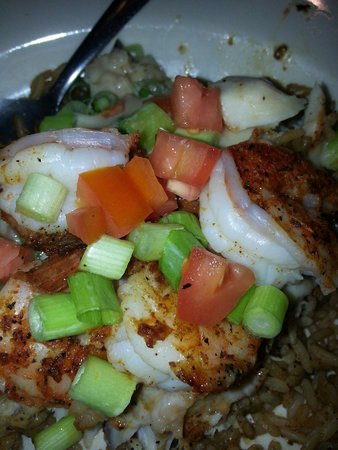 Wintzell's Oyster House: Bienville blackened fish and shrimp