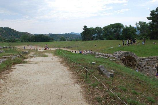 Ancient Olympia : The stadium