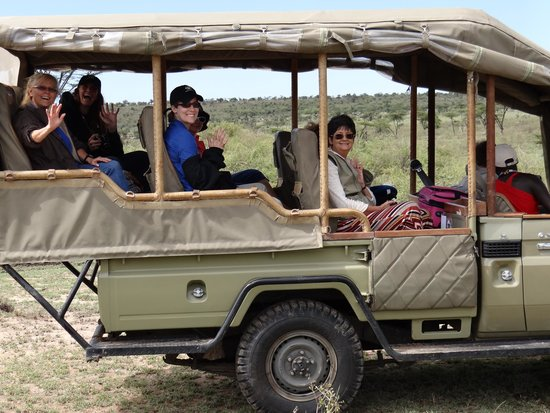 Eagle View, Mara Naboisho: Part of our group enjoying a game drive.
