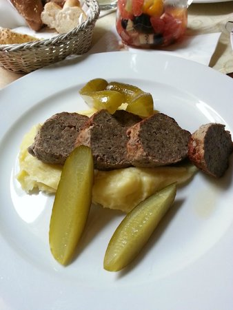 Boutique Hotel Seven Days : Lunch, Czech meatloaf