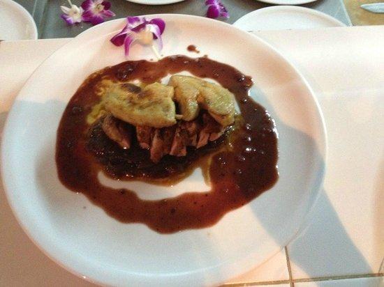 Cafe Java: Magret de canard au foie gras